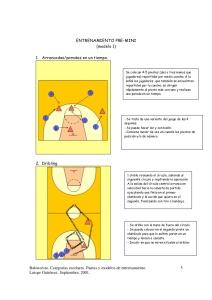 apuntes y ejercicios de baloncesto formativo premini-mini